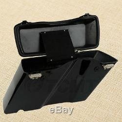 TCMT Hard Saddle bags Trunk withLid & Latch Key For 94-13 Harley Touring Road King