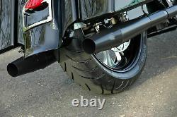 Thunderheader Black Slip On Exhaust Pipe Mufflers Pair Set Harley Touring 17-21