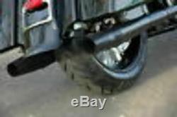 Thunderheader Black Slip On Exhaust Pipe Mufflers Pair Set Harley Touring Bagger