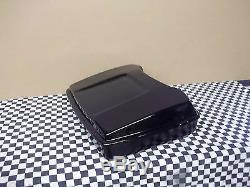 Tour Pack Razor fits Harley Bagger hinged and latched black hardware