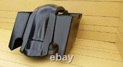 Touring Stretched Harley 6 Inch Saddlebags/Rear Overlay Fender No Lids 97-08