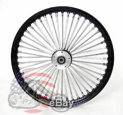 Ultima 48 King Spoke Fat 23 3.5 Front Wheel Rim Harley Touring Dual Disk Black