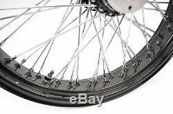 Ultima Black & Chrome 21 X 3.5 60 Spoke Front Wheel Rim Harley Touring Bagger