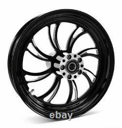 Ultima Vortex Black Billet Aluminum 16 3.5 Rear Wheel Rim Harley Touring Softail