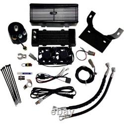 UltraCool RF-1G Black Oil Cooler Kit 99-08 Harley-Davidson Touring Bagger