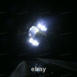 Universal LED Bullet Motorcycle Head Light Headlight Custom For Harley Touring