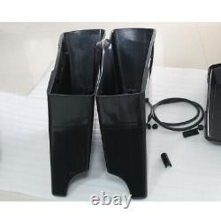 Unpainted 5 Stretched Extended Hard Saddlebags For Harley Touring 1993-2013 94