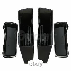 Unpainted 5 Stretched Extended Hard Saddlebags For Harley Touring Models 93-13