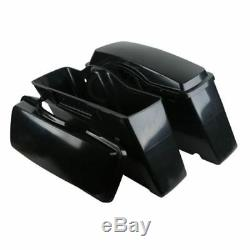 Unpainted Hard Saddle bags Saddlebags For Harley Touring Street Road Glide 94-13