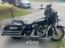 Usa-biker Tall Backrest Sissy Bar Harley Touring Road Electra Glide 97-08 Black