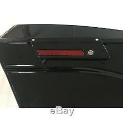 Vivid Black 5 Stretched Extended Hard Saddlebags For Harley Touring FLT 93-2013