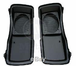 Vivid Black 6 x 9 Saddlebag Speaker Lids for Harley Touring models FLTR FLHR