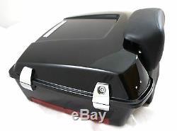 Vivid Black Chopped Tour Pak fit Harley Davidson touring Premium hinges latches