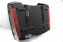 Vivid Black Chopped fits Harley Davidson HD Tour Pak Trunk Pack with Red reflector