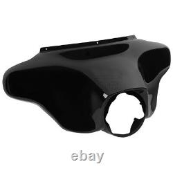Vivid Black Front Batwing Outer Fairing Fit For Harley Touring FLHT FLHX 1996-13