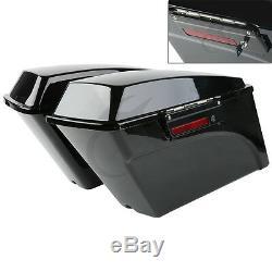 Vivid Black Hard Saddlebags Bag & Lid Latch Keys For Harley Touring Models 94-13