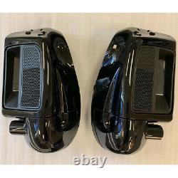 Vivid Black Pair Lower Vented Leg Fairing Kit for Harley-Davidson 14-18 Touring