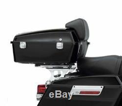 Vivid Black Razor Pack Trunk Backrest Rack For Harley Tour Pak FLHX FLTRX 09-13