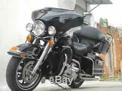 Vivid Black Touring Lower Vented Fairing fits HD Harley Road King Glide FLT FLH