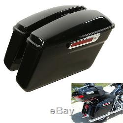 Vivid Hard Saddle Bags Trunk With Latch keys For Harley Touring Models 2014-2019