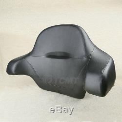 Wrap-around King Chopped Trunk Backrest Pad For Harley Tour Pak Pack FLHT 14-19